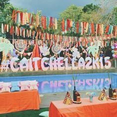 Caitlin's Coachella Themed Party – Main Setup
