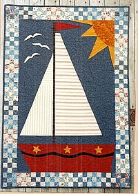 Country Threads - Sailing Door Banner Pattern...for the back of the powder room door?