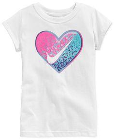 Nike Little Girls' Heart Swoosh T-Shirt Cute Outfits For Kids, Boy Outfits, Nike Shirts Women, Nike Kids, Girls Tees, Baby Girl Shoes, Kid Styles, Baby Shirts, Diy Shirt
