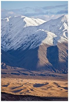 Panamint Valley and Mountain range, via Father Crowley Point, Death Valley National Park, California; photo by Mac Danzig
