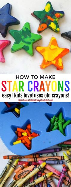 How To Melt Old Crayons into Fun New Crayon Shapes For Kids! DIY Craft