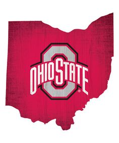 Another great find on #zulily! Ohio State Buckeyes Logo State Sign #zulilyfinds