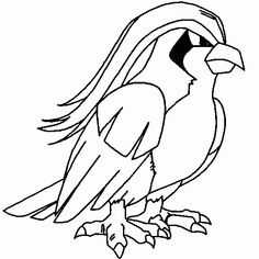 Pidgeotto create sandstorms tornado 15 Pokemon Coloring Pages for Kids title=