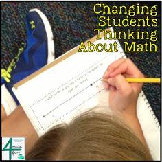 Activitats per ensenyar als alumnes les actituds necessàries per resoldre problemes: provar totes les estratègies, no desanimar-se, perseverar..... També hi ha exemples de problemes. Changing Students Thinking About Math