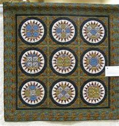 Moroccan Gem, made and quilted by JoAnn Blackmore from a pattern by Toby Lischko. Quilt Making, Workshop, Quilts, Moroccan, Gem, Pattern, Projects, How To Make, Student
