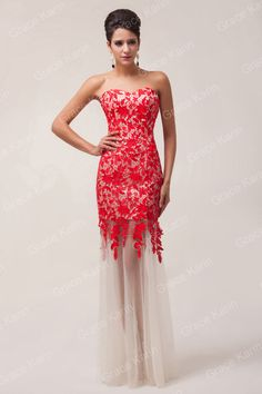 Lace long Mermaid Evening Dresses Red black and white Tag a friend who would love this! Get it here