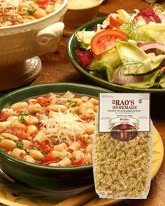 Rao's Pasta e Fagioli ~ A Simple, Healthy & Delicious Recipe brought to by Rao's Specialty Foods Inc.     We invite you to enjoy our recipes, submit your own or suggest changes and variations to ours.    http://www.raos.com/pasta-e-fagioli.aspx