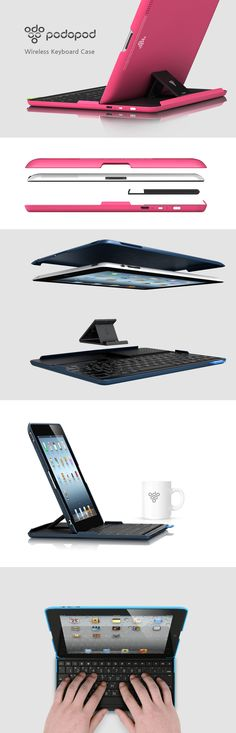 PODOPOD  Wireless Keyboard Case