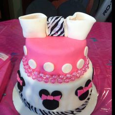 Minnie mouse cake for my niece.