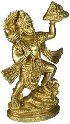 Gangesindia Lord Hanuman Carrying Herbs Mountain Brass Statue  #HINDUISM #ISKCON Hi Tech Wallpaper, Lion Wallpaper, Shiva Wallpaper, Hanuman Murti, Ram Hanuman, Lord Hanuman Wallpapers, Hanuman Images, Hindu Statues, Brass Statues