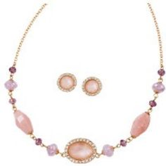 Misty Pink Necklace and Earring Set💖 Misty Pink Necklace and Earring Set 💖 Avon Jewelry Necklaces