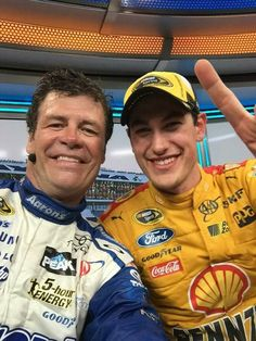 Micheal Waltrip and Daytona500 winner Joey Logano