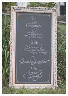 cool oversized frame adds personality to your big day.  photo by Leah Verwey