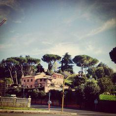 Ранкова поїздка #ITALIA #italy #Roma #roma #paesaggio #рим #Рим #Італія #італія #пейзаж #cristoforocolombo #termedicaracalla by vagabondo_str