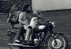 Original hipster teaching an awesomer kid how to be a badass.
