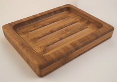 Oiled Bamboo Soap Dish  Traditionalstyle by FlatlandersSoapCo, $15.00