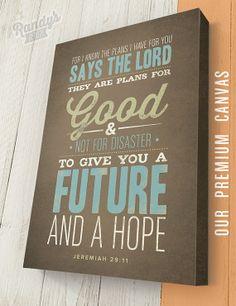 Personalized Bible Verse Jeremiah 2911 Canvas by RandysDesign, $69.00