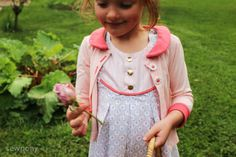 A fawn lily dress and an aster cardigan
