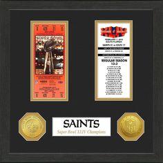 NFL New Orleans Saints Super Bowl Championship Ticket Collection