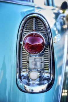 """1956 Chevy Bel-air Tailight""  #classic #cars #vintage #automobile #Chevy #Bel-air"