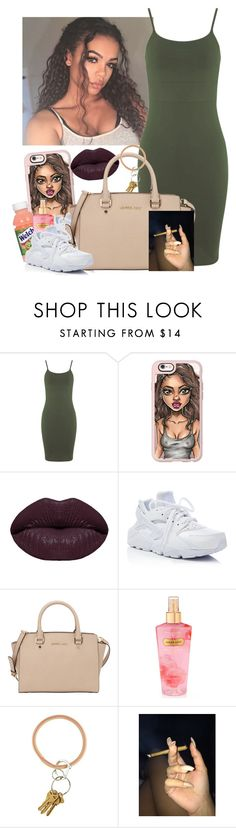 """✨"" by saucinonyou999 ❤ liked on Polyvore featuring Miss Selfridge, Casetify, Winky Lux, NIKE, MICHAEL Michael Kors and Victoria's Secret"