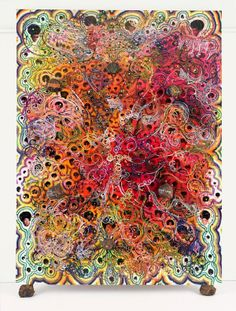 Chris Offili's Afrodizzia (2nd version), 1996Acrylic, oil, polyester resin, paper collage, gli...