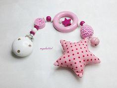 Baby-Safe-Kette Kinderwagenkette rosa SB101 von myduttel auf DaWanda.com