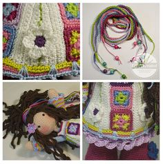 Yuna is a modern Hippie girl. She is a girl with a free mind who doesn´t accept the establishment. Yuna usually do not watch tv, nor do she conform to social standards of beauty, but she loves her colorful mood dress. Please note: This listing is for a CROCHET PATTERN to make the pictured