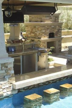 Pool + Wet Bar + Fireplace + Outdoor Kitchen