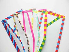 Dress up your envelopes with striped washi tape.