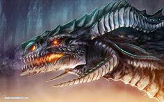 Black Dragon | Portrait of a Black Dragon 2 by *kokodriliscus on deviantART