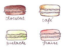 Yummy illustrated french macaron