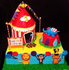Completely Edible Circus 1st Birthday Cake