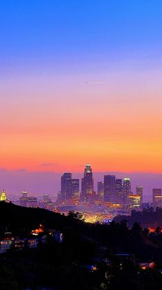 Los Angeles, California at Dusk.