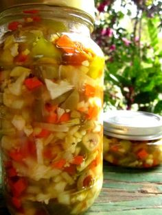 Italian giardiniera is also called sotto aceti, which means under vinegar, a common term for pickled foods. It is typically eaten as an antipasto or with salads.  Milder varieties of giardiniera are used for the olive salad in the Muffuletta sandwich.  Try on you next sub-type sandwich for a change of pace.  Recipe by Donald Link.  Note:  2 tablespoons sugar makes for a slightly sweet bite.  If you like less sweet and more sour, cut to 1 tablespoon.