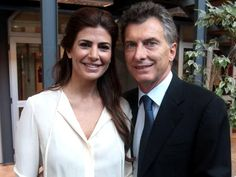 Juliana Awada the new first Lady of Argentina and third wife of President Mauricio Macri who was elected president in November, 2015. they have one daughter