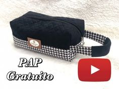 PAP Necessaire JOSEMARA - YouTube Diy Pouch Bag, Produce Bags, Womens Purses, Toiletry Bag, Handmade Bags, Vintage Sewing Patterns, Bag Making, Cosmetic Bag, Sewing Crafts