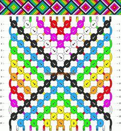 Normal Friendship Bracelet Pattern #1409 - BraceletBook.com