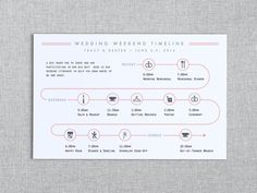 Day of the Wedding Timeline - Wedding Weekend Timeline - In the Post - Customizable Printable PDF