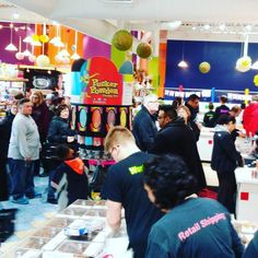 This might be the busiest candy store I've ever been to. Kind of insane.