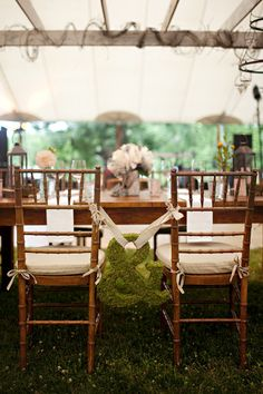 decor wedding, idea, weddings, the bride, grooms table, wedding chairs, chair decorations, diy projects, reception tables
