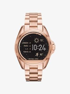 Introducing Michael Kors Access—a smartwatch that seamlessly fuses fashion and technology. Powered by Android Wear™, this innovative design is equipped with multiple animated display faces, fitness tracking, text and email alerts. Consider it the chicest way to do tech. Digital watch <3 needs