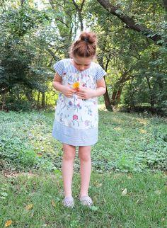 Ice cream dress - shirting + floral /lilysageandco.com