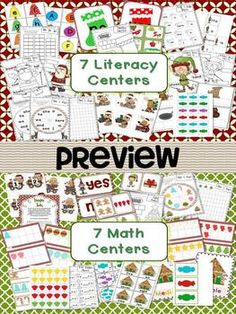 7 math and 7 literacy Christmas centers Aligned to the Common Core $