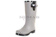 Puddles - Black/White Houndstooth