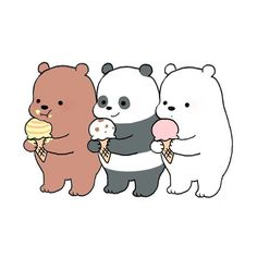 we bare bears Funny Phone Wallpaper, Bear Wallpaper, Cute Disney Wallpaper, Cute Cartoon Wallpapers, Ice Bear We Bare Bears, We Bear, Cute Couple Cartoon, Cute Cartoon Characters, Cute Animal Drawings