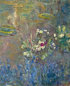Water Lilies, 1918 ~ Claude Monet, one of my favorites. Claude Monet, Monet Paintings, Landscape Paintings, Artist Monet, Art Amour, Camille Pissarro, Impressionist Paintings, Water Lilies, Anime Comics