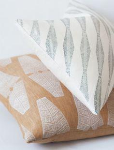 Susan Connor New York Totem & Vatta cushions | Block Print Social
