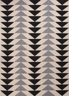 Jaipur Rugs Patio Ivory & Black Area Rug | AllModern