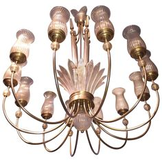 Rare Signed Seguso Murano Chandelier   From a unique collection of antique and modern chandeliers and pendants at https://www.1stdibs.com/furniture/lighting/chandeliers-pendant-lights/
